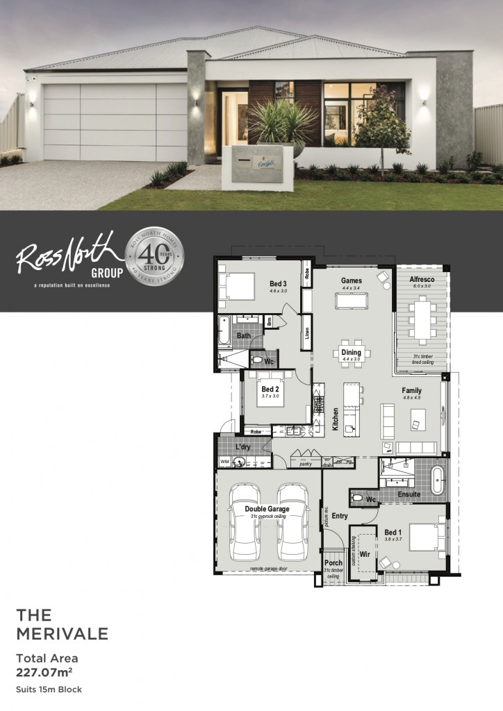 The Merivale Display Home For Sale Perth Ross North Homes Cottage Style House Plans Craftsman House Plans House Plan Gallery
