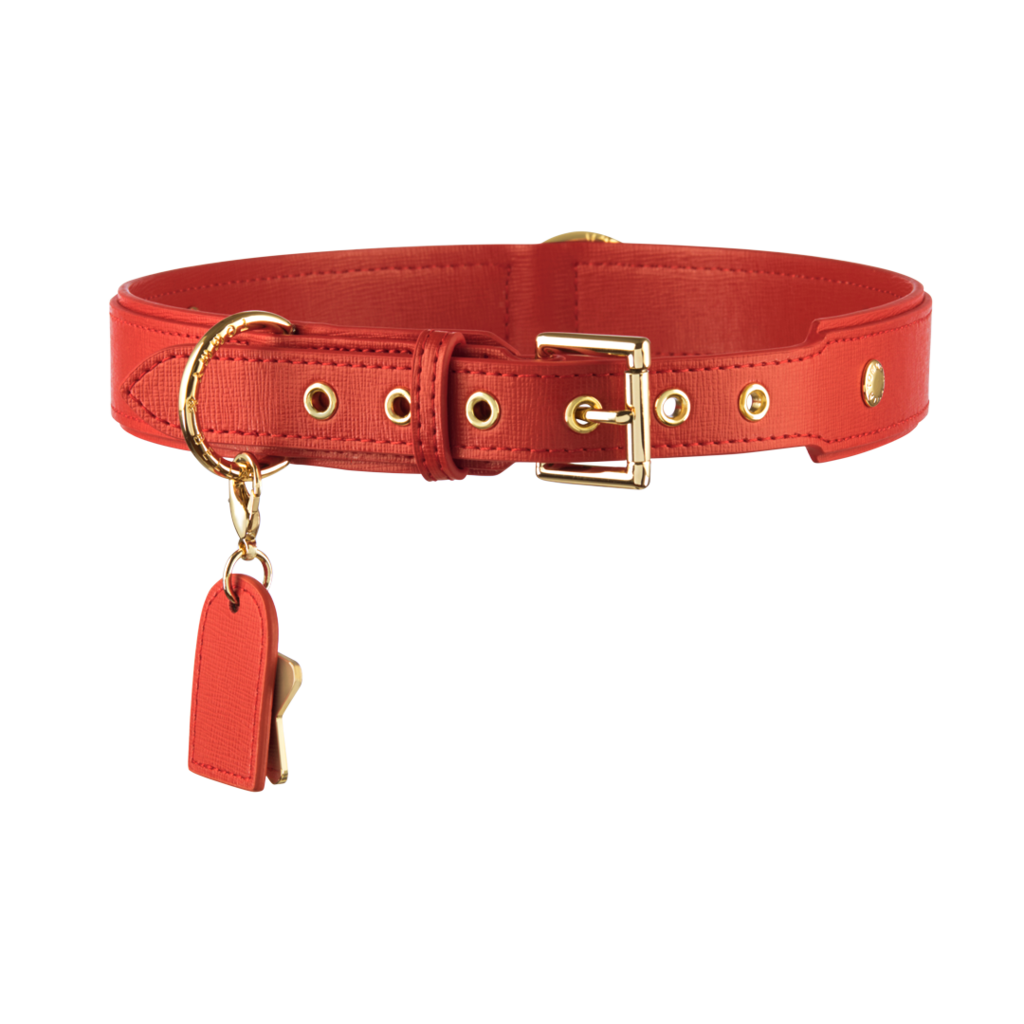 Luxury Dog Collar Red Tommy Bella Red Dog Collar Luxury Dog Collars Leather Dog Collars