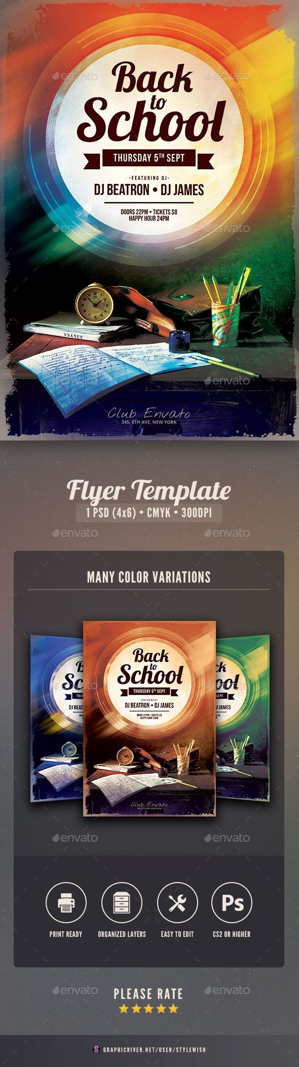 Back To School Flyer  Font Logo Flyer Template And Fonts