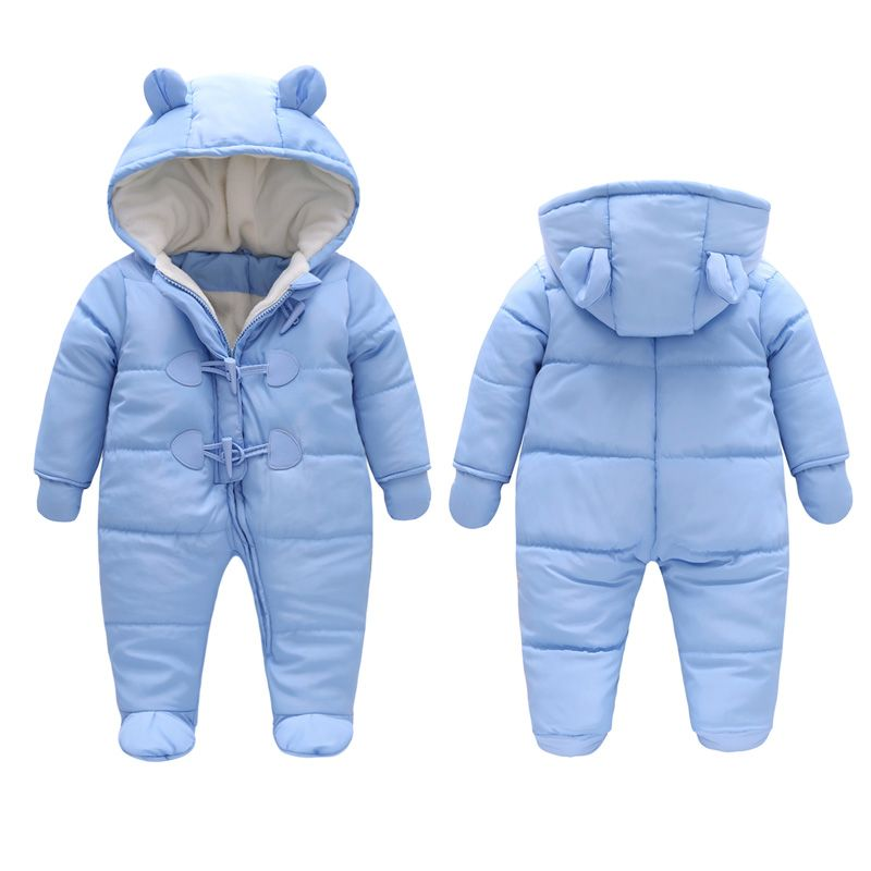 7d21e6055 Childrens Winter Jumpsuit Overalls Rompers Kids Winter Baby Snowsuit ...
