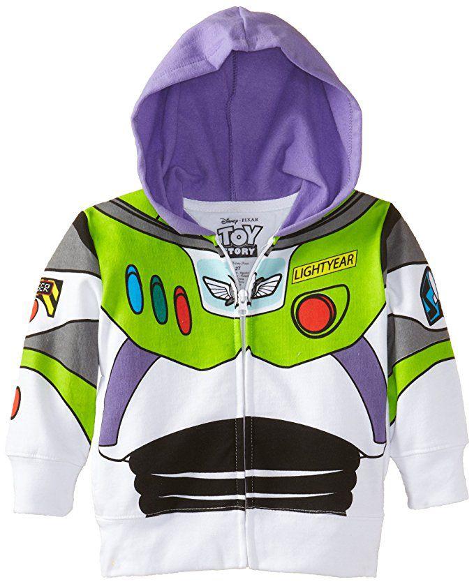 Disney Pixar Toy Story - Buzz Lightyear Costume Zip-Up Hoodie Sweatshirt (Toddler Boys) - Walmart.com #buzzlightyear