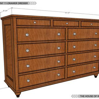 Build An 11 Drawer Dresser With Free Plans And Tutorial Woodworking Furniture Plans Diy Dresser Plans Woodworking Plans Diy