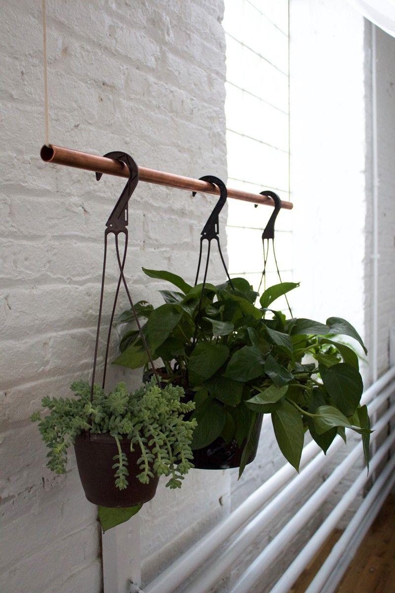 Diy Copper Bar Plant Holder Copper Diy Hanging Plants Indoor
