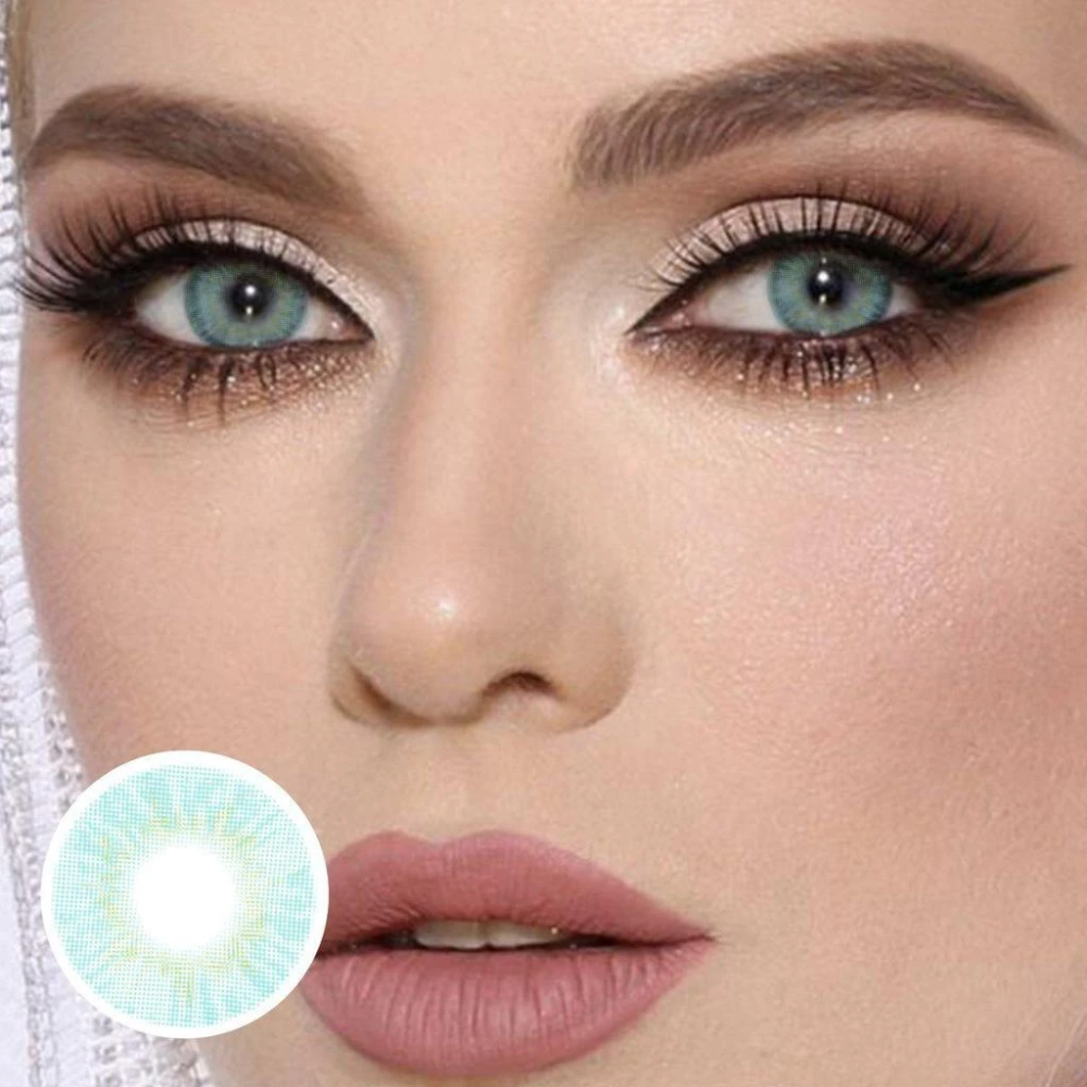 Cherry Nattier Blue Yearly Colored Contacts C10228
