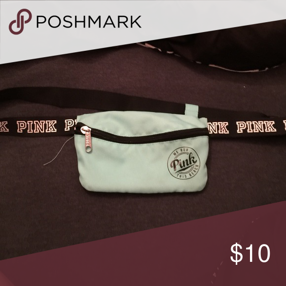 Love pink Fanny pack Mint green fanny pack PINK Victoria's Secret Accessories
