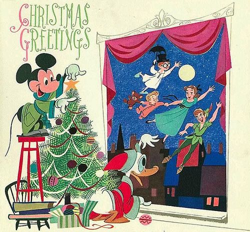 Pin By Heide Muhs On Vintage View Disney Christmas Cards Christmas Illustration Vintage Holiday Cards