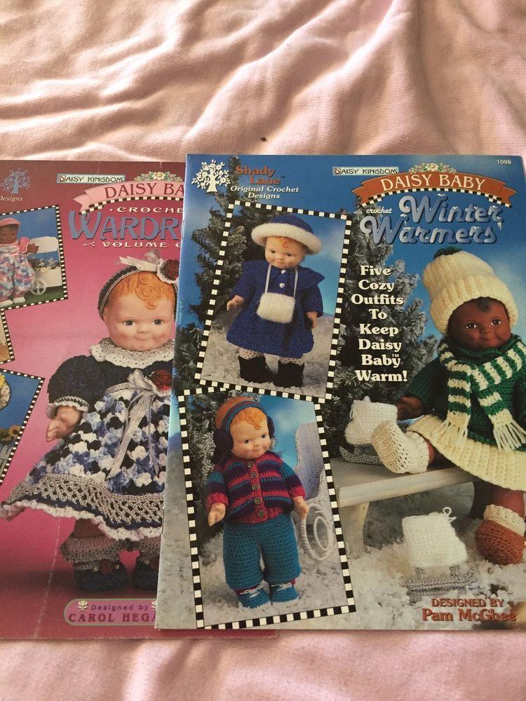 Two Daisy Kingdom Crochet Patterns For Baby Dolls Ebay Things I
