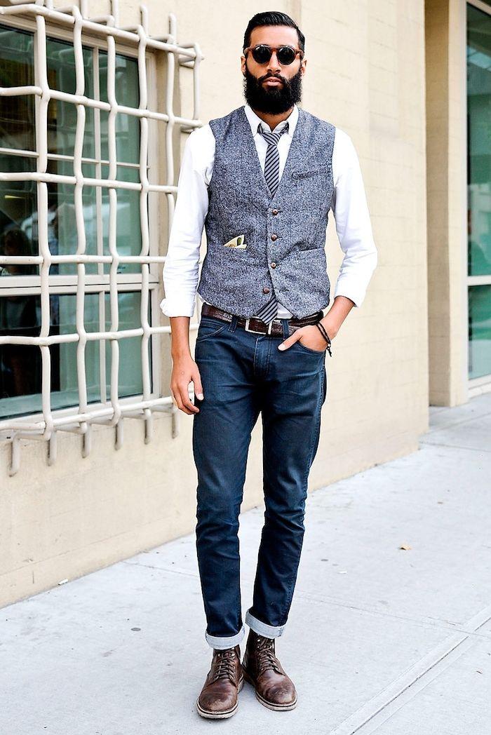 Comment porter un gilet de costume avec style     Mode homme ... 415a2b7e8479