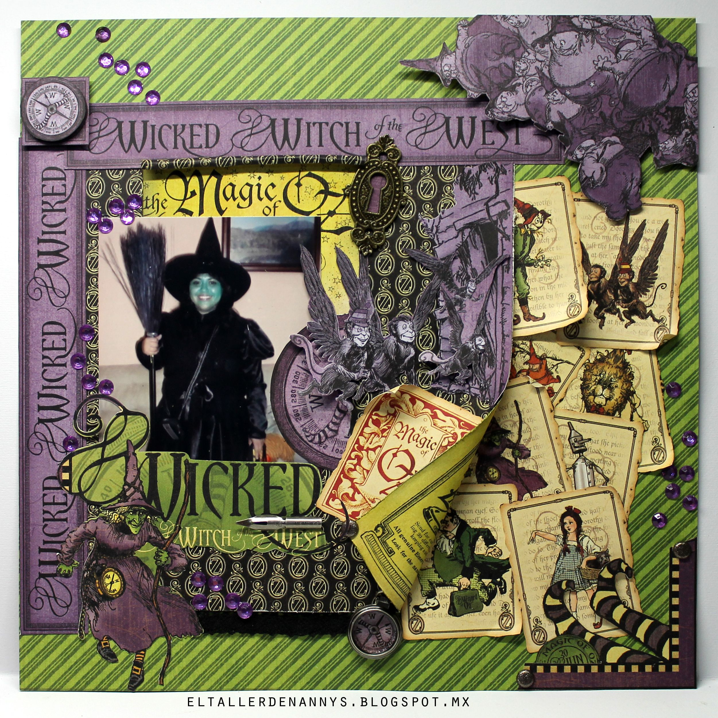 Halloween layout. by The Magic of Oz collection by Graphic 45