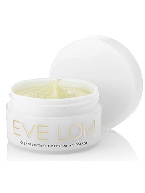 Eve Lom cleanser is the cult cleanser in the United Kingdom.   Massage it in and it acts as a cleanser, eye makeup remover, toner and mild exfoliant.