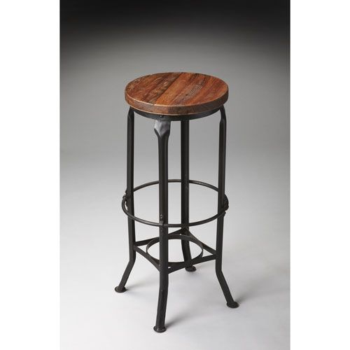 Butler Specialty Company Metalworks Round Bar Stool Furniture
