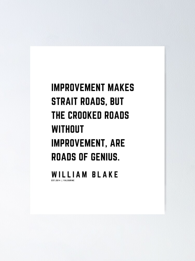 28 | William Blake Quotes | 210120 | Artist Poet Poem Poetry Writing Writher Literature Literary Poster by QuotesGalore