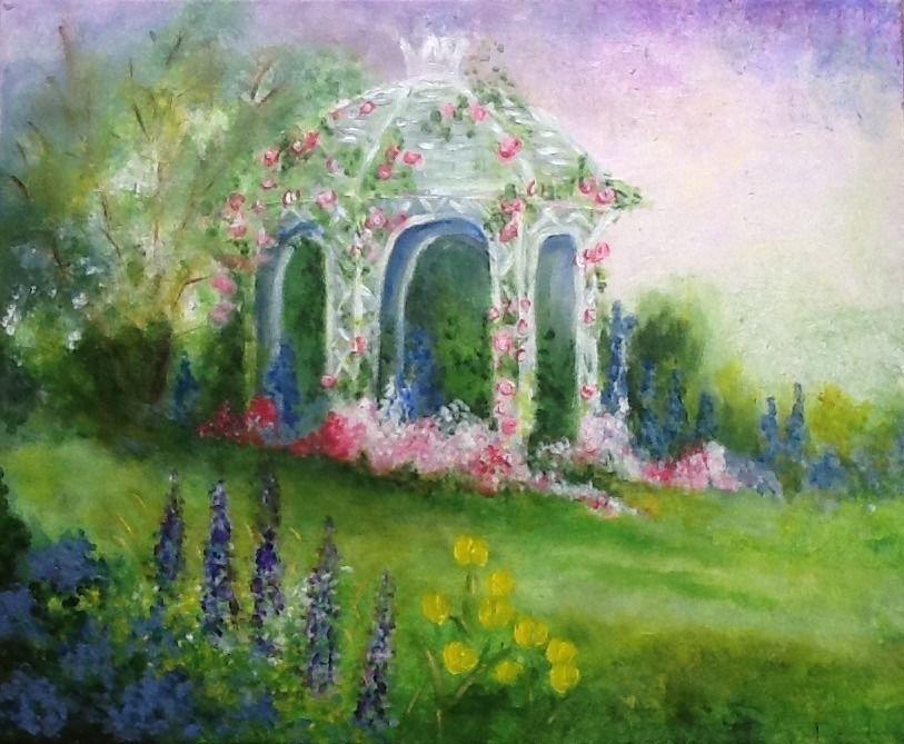 Le Romantisme Anglais Le Jardin Anglais Acrylique Sur Toile De