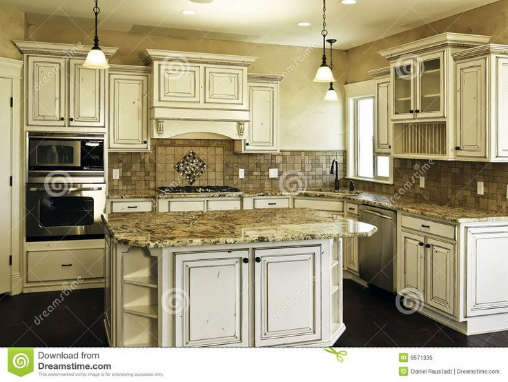 Distress dark wax kitchen cabinets yahoo image search for New kitchen white cabinets