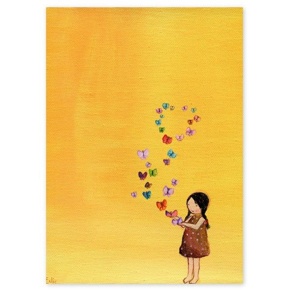 This is one of my favorites on totsy.com: Butterfly Girl Wall Art ...