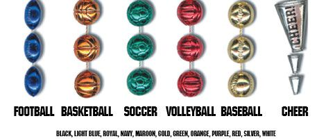Baseball/Softball Sport Beads 10 doz minimum