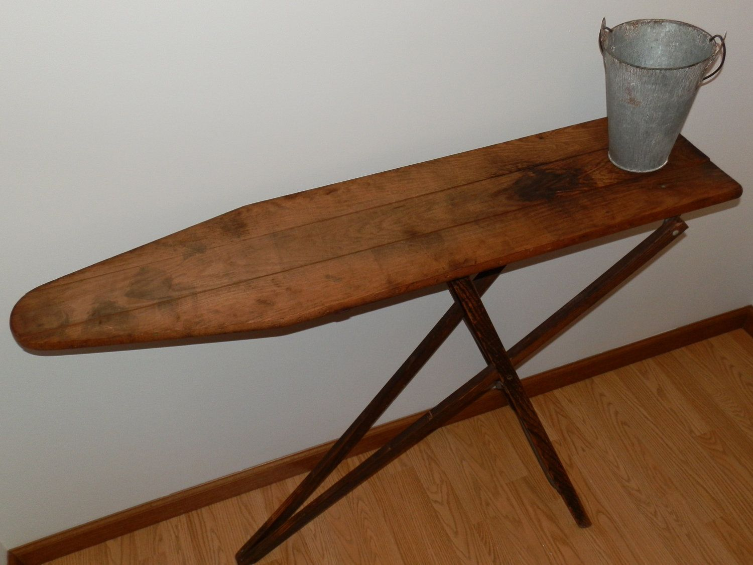 antique wooden ironing board in great condition. perfect as a table or as a  rustic display piece in the home or garden. - Vintage Ironing Board. I Have 2 Of These And My Grandmother's