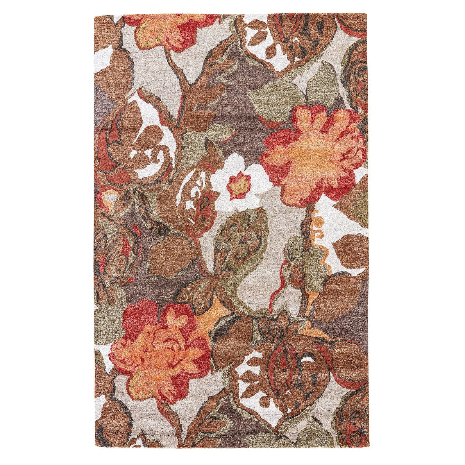 Jaipur Rugs Fall Floral And Leaves Indoor Area Rug Floral Area