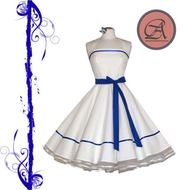50. spodnička šaty     50.     off-bílá-královská modrá  ad5408d60f