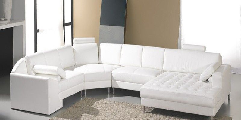 modern white leather reclining sofa de couro branco broyhill leather