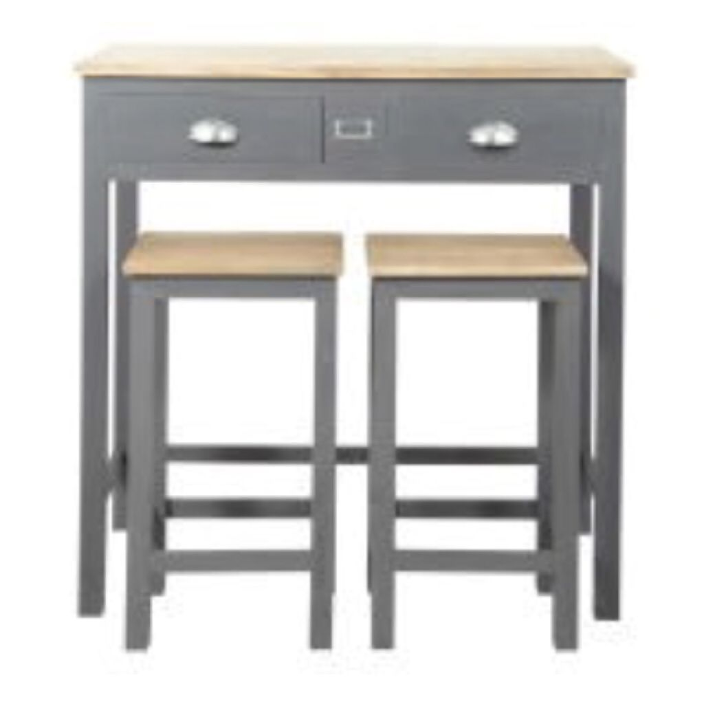 Sophie etchart petite table cuisine table a manger - Table de cuisine haute avec tabouret ...