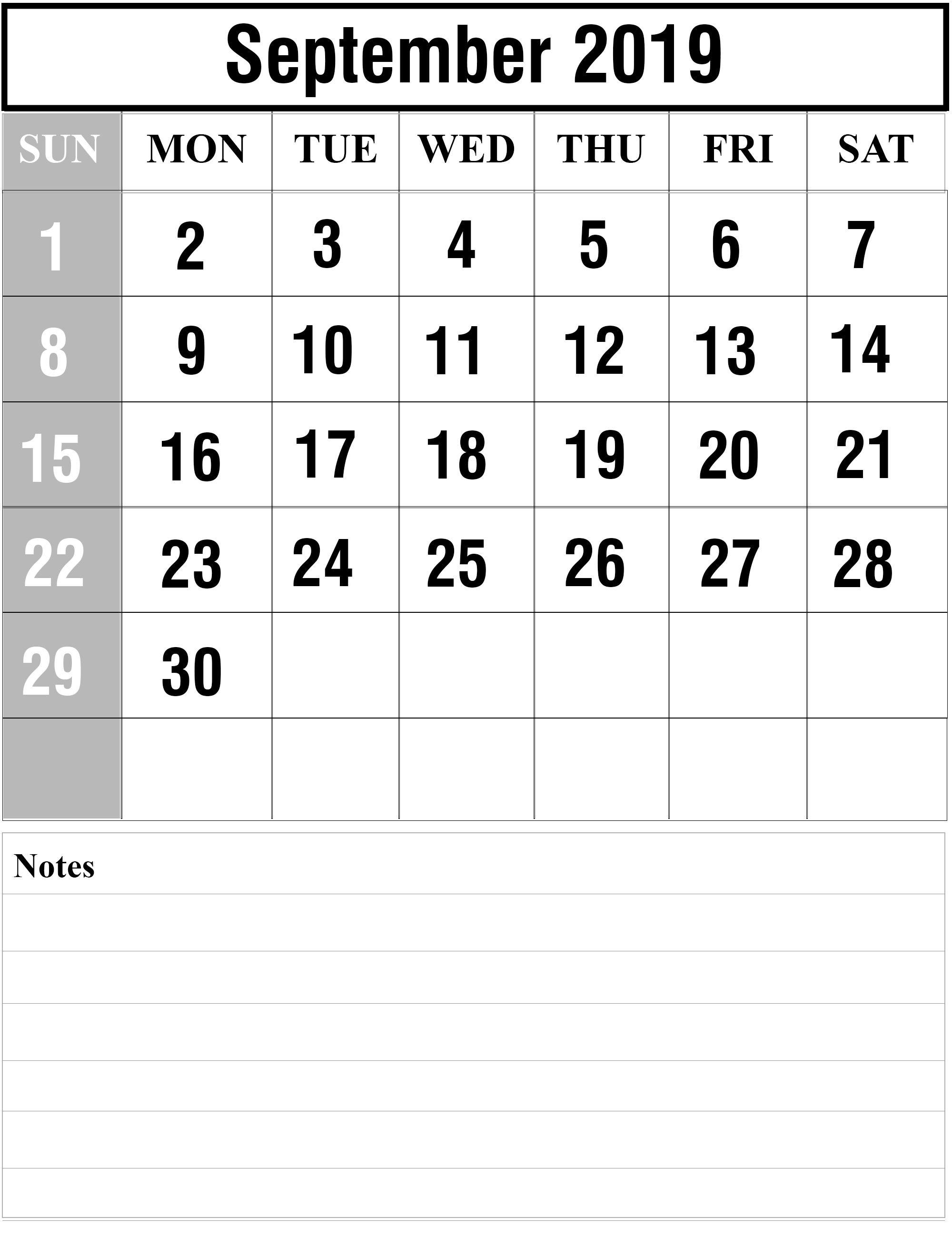 How To Schedule Your Month With September 2019 Printable Calendar