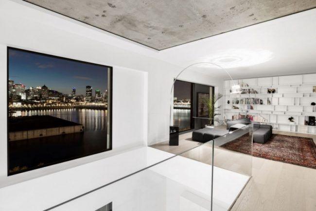 raumgestaltung-ideen-betondecke-modern-minimalistisch ...