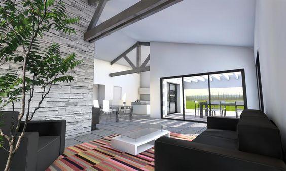 Une maison de plain-pied de 146 m² qui allie design contemporain et - dalle beton interieur maison