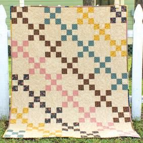 William's Crossing Quilt Pattern Download by It's Sew Emma now available at ConnectingThreads.com