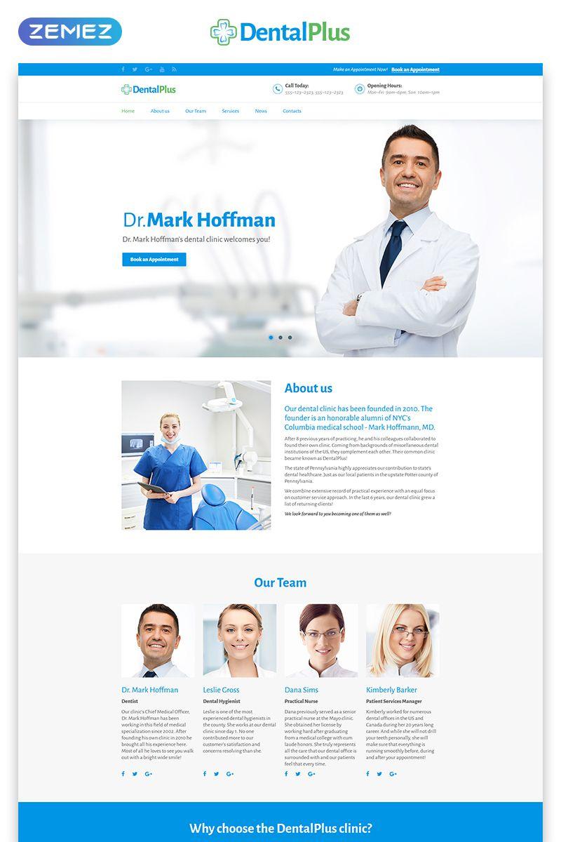 Medical Landing Page Html Template Dental Clinic Medical Website Design Dental