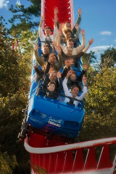 Tibidabo Amusement Park Barcelona Catalonia Roller Coaster Amusement Park Theme Park