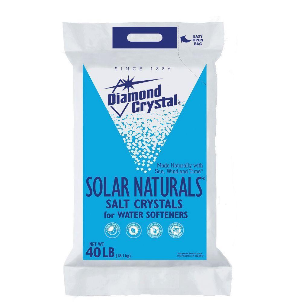 Diamond Crystal Solar Naturals Water Softener Salt Crystals 100012454 The Home Depot Water Softener Salt Softener Salt Water Softener