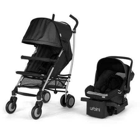 Urbini Touri Travel System Stroller Petal Infant Car Seat BLACK