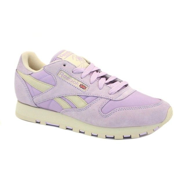 ce8cc525f553c0 Reebok Classic Leather Pastel V45287 Womens Laced Suede Trainers... (8.61  AUD) ❤ liked on Polyvore featuring shoes