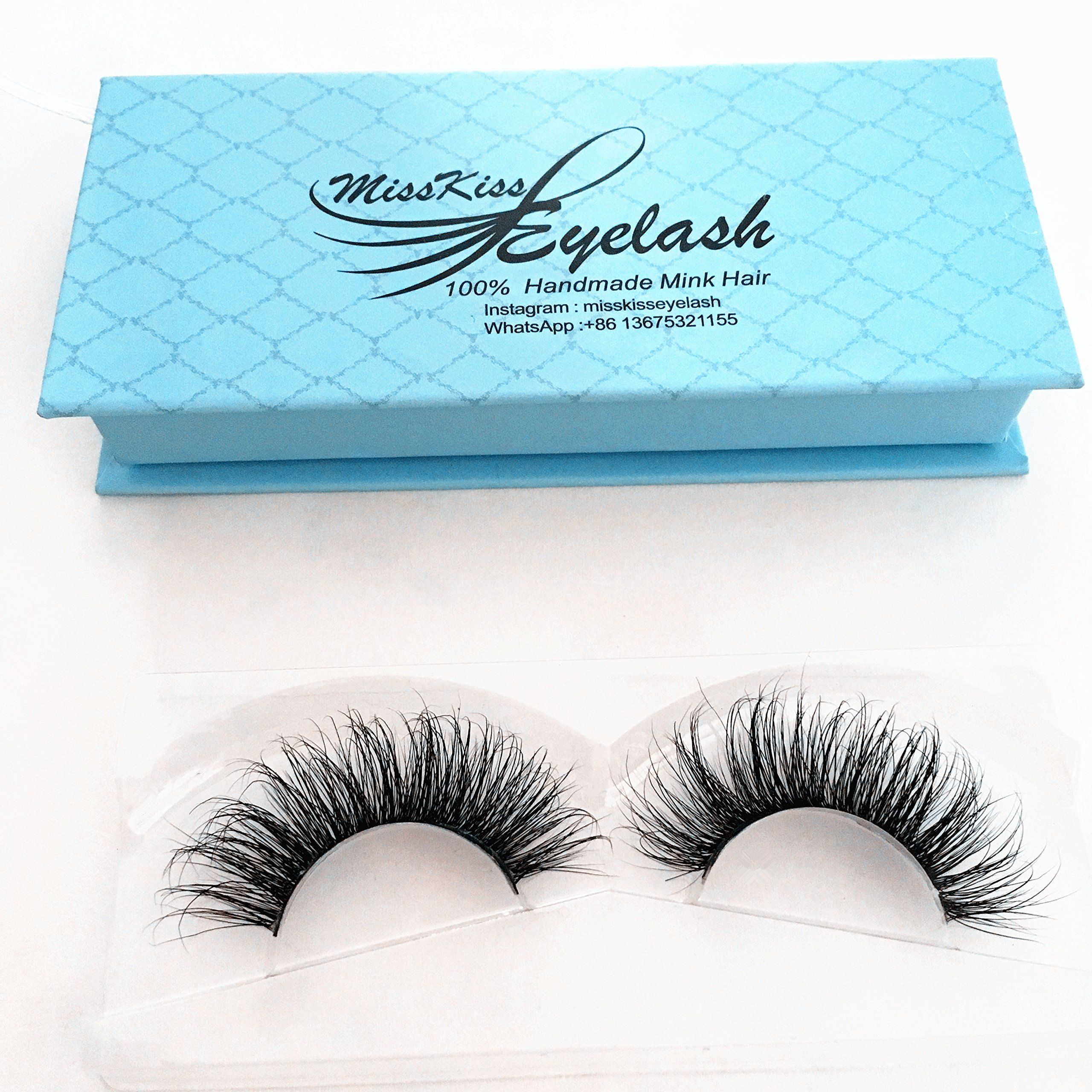 a0db1949839 Mink 3D Lashes Dramatic Makeup High Quality Strip Lashes 100% Siberian Fur  Fake Eyelashes Hand