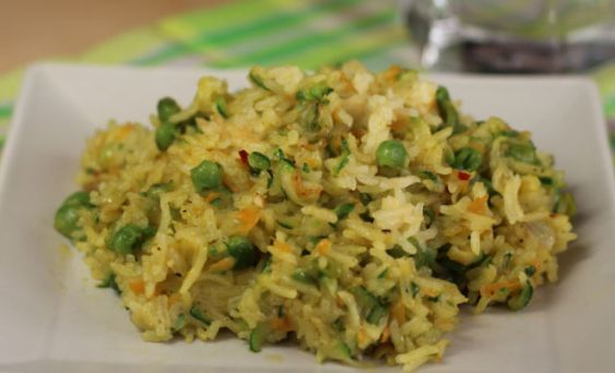 Riz basmati au curry et légumes WW