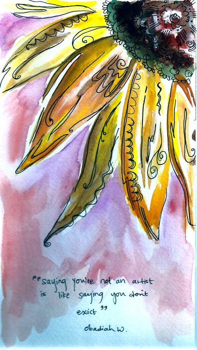 Sunflower I Was Sketching One Day As A Young Person Came By And