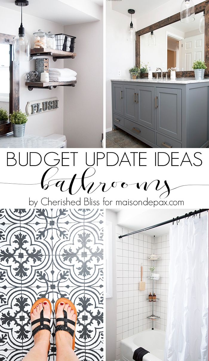 Budget Bathroom Updates 5 Tips To Affordable Makeovers