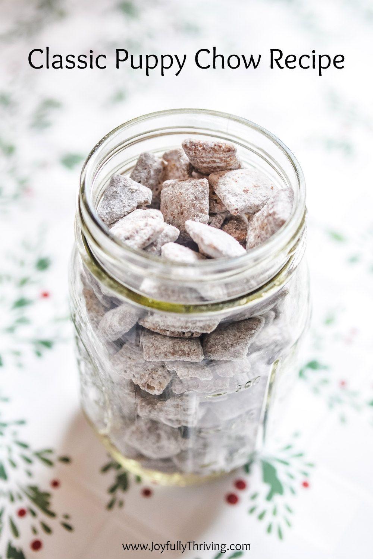 Simple Chocolate Puppy Chow Aka Muddy Buddies Recipe Puppy