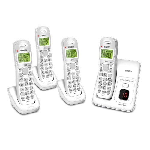 Uniden D1384-4 DECT 4-Handset Cordless Phone System with