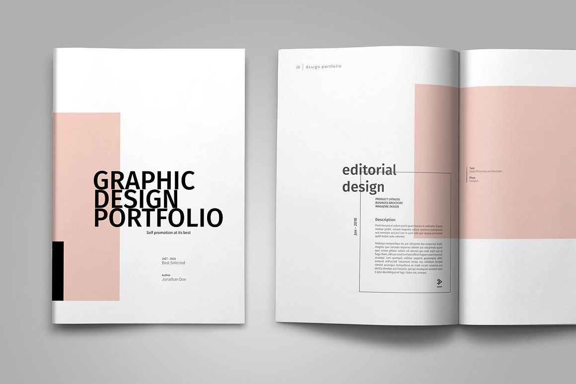 Graphic Design Portfolio Template by tujuhbenua on @creativemarket ...