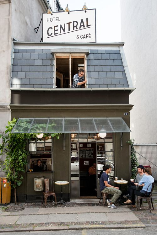 ...the smallest café and hotel in Copenhagen, Denmark <3