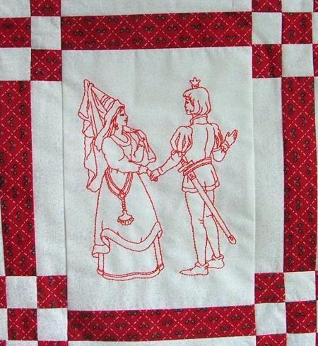 Advanced Embroidery Designs - Fairy Tale Redwork Set II | Machine ... : fairy tale quilt patterns - Adamdwight.com