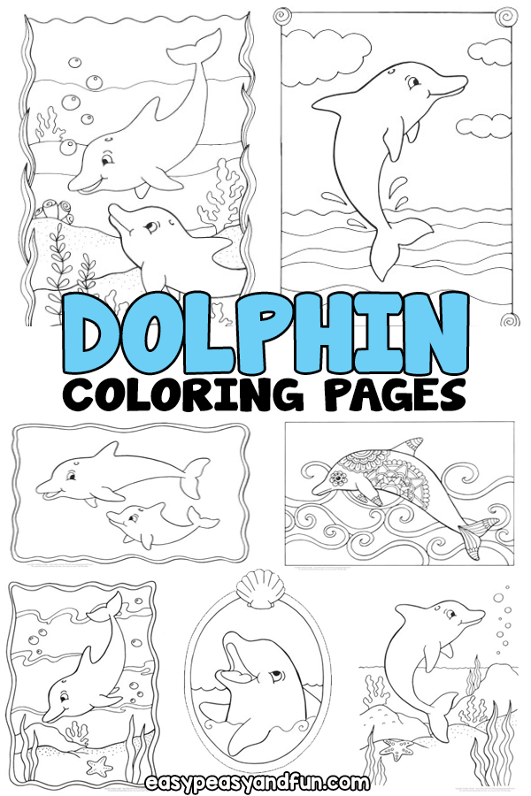 Dolphin Coloring Pages | Kids Art Activity Ideas | Dolphin ...