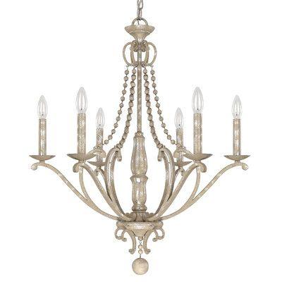 Capital Lighting Adele 6 Light Candle Chandelier