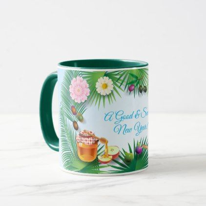Happy Rosh Hashanah Jewish New Year Honey & Apple Mug | Zazzle.com #happyroshhashanah
