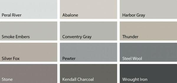 Wohnzimmer in Grau mit klassischen Akzenten und luxuriösem Mobliar - Wohnzimmer Design Wandfarbe Grau