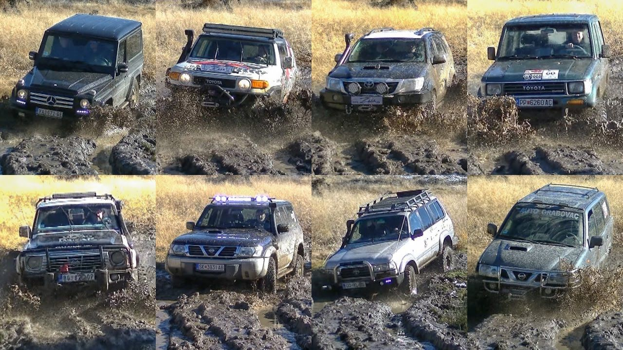 Mercedes G vs Toyota FJ Cruiser & Land Cruiser vs Nissan