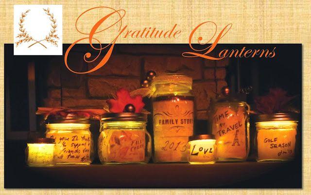 easy DIY Gratitude lanterns from old jars Thanksgiving activity