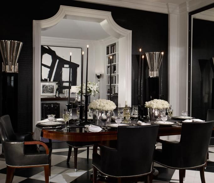 Black Leather Dining Chairs Contemporary Dining Room Black
